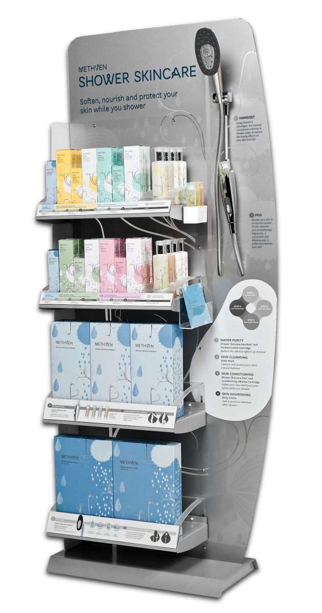 Methven Shower skincare display2
